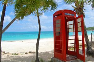 antigua beach phone box