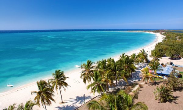 Beautiful tropical beach on holiday in Cuba