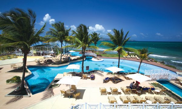 Magdelana Resort Tobago - pool and beach view